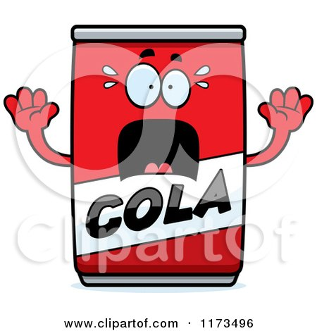 Cartoon of a Screaming Cola Mascot - Royalty Free Vector Clipart by Cory Thoman