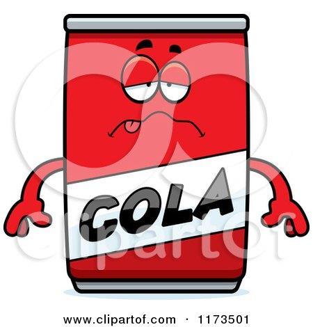 Cartoon of a Sick Cola Mascot - Royalty Free Vector Clipart by Cory Thoman