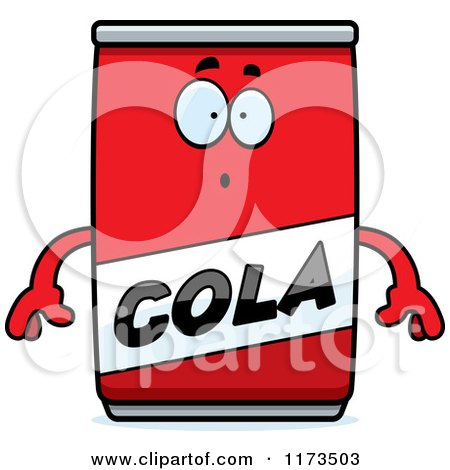 Cartoon of a Surprised Cola Mascot - Royalty Free Vector Clipart by Cory Thoman
