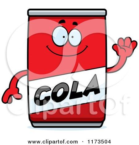 Cartoon of a Waving Cola Mascot - Royalty Free Vector Clipart by Cory Thoman