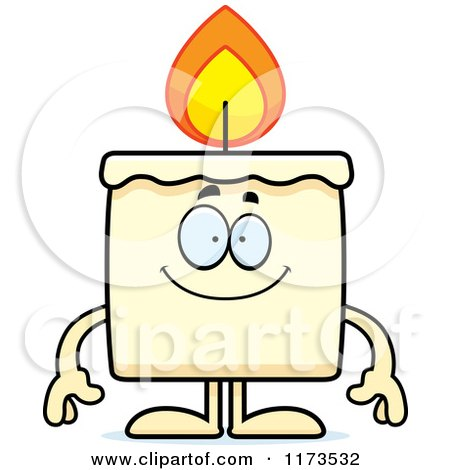 Cartoon of a Happy Candle Mascot - Royalty Free Vector Clipart by Cory Thoman