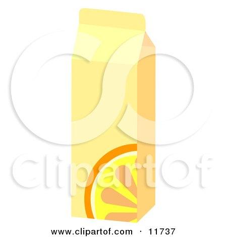 Carton of OJ Clipart Illustration by AtStockIllustration