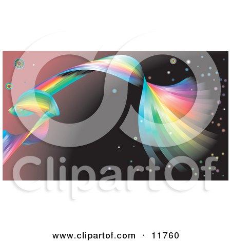 Spiraling Rainbow Background Clipart Illustration by AtStockIllustration