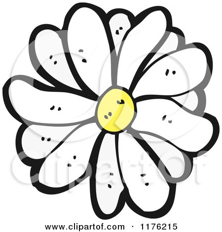 Cartoon of a Daisy - Royalty Free Vector Illustration by lineartestpilot
