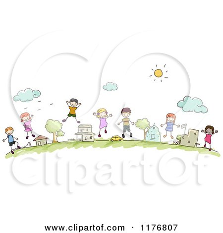 Cartoon Of A Dirty Slum Neighborhood Royalty Free Vector