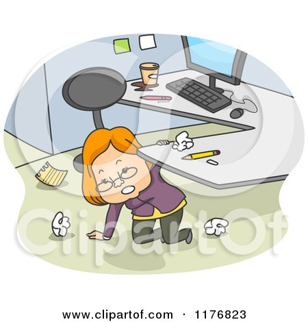 Royalty-Free (RF) Cubicle Clipart, Illustrations, Vector Graphics #1
