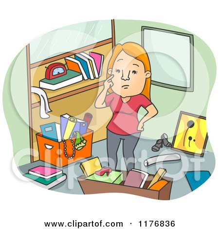 Royalty Free Rf Cluttered Clipart Illustrations Vector