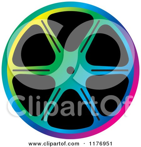 Clipart of a Colorful Film Reel - Royalty Free Vector Illustration by Lal Perera