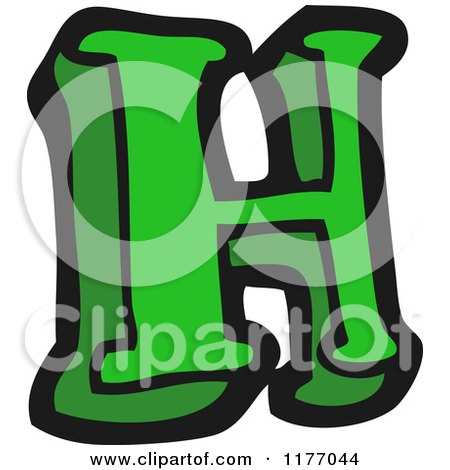 Cartoon of the Letter H - Royalty Free Vector Illustration by lineartestpilot