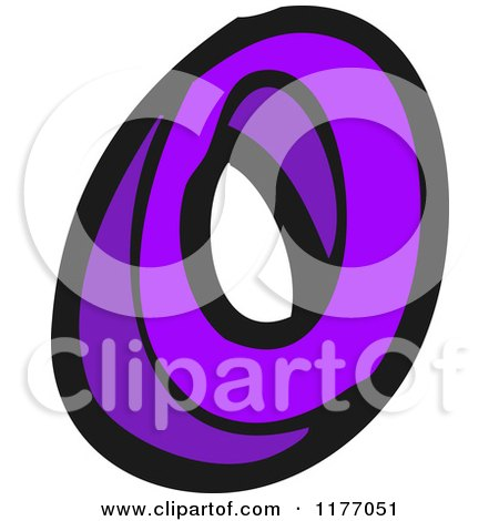 Cartoon of the Letter o - Royalty Free Vector Illustration by lineartestpilot