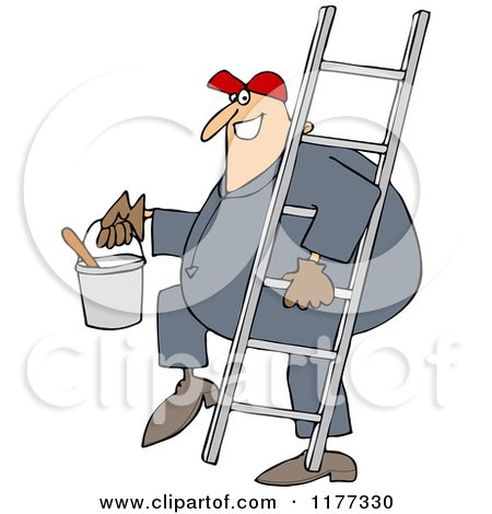 Clipart Of A Cartoon Moose After Falling Off Of A Ladder