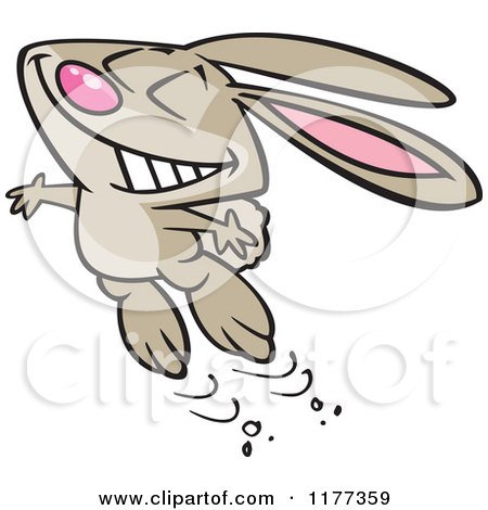 cartoon of an outlined romantic valentine bunny rabbit