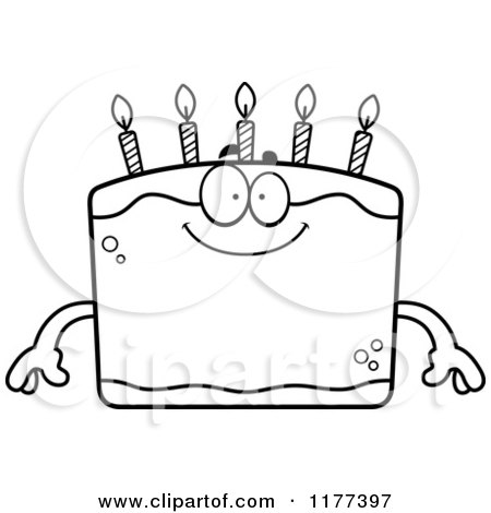Black And White Happy Birthday Cake Mascot 1177397 on happy birthday in binary