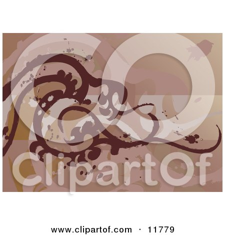 Brown Tatoo Design Clipart Illustration by AtStockIllustration