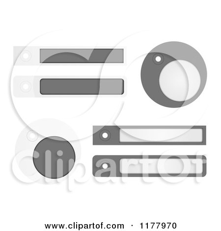 Clipart of Gray Labels and Tags, on White - Royalty Free Vector Illustration by vectorace