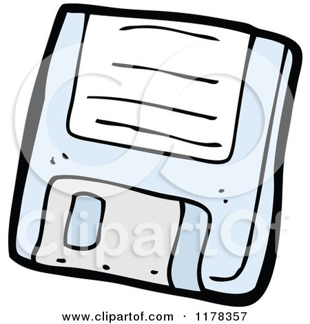 Cartoon of a Floppy Disc - Royalty Free Vector Illustration by lineartestpilot