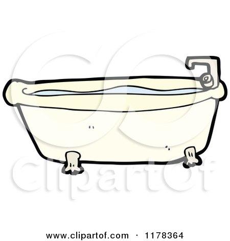 bathtub cartoon. Cartoon of a Claw Foot Bathtub  Royalty Free Vector Illustration by lineartestpilot