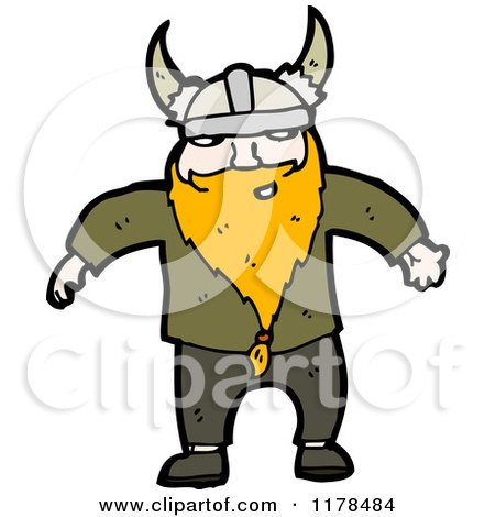 Cartoon of a Viking - Royalty Free Vector Illustration by lineartestpilot