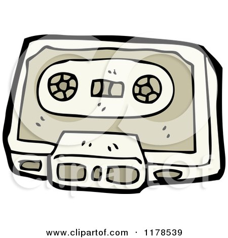 Cartoon of Cassette Tape - Royalty Free Vector Illustration by lineartestpilot