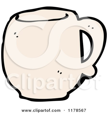 Cartoon of a Coffee Mug - Royalty Free Vector Illustration by lineartestpilot