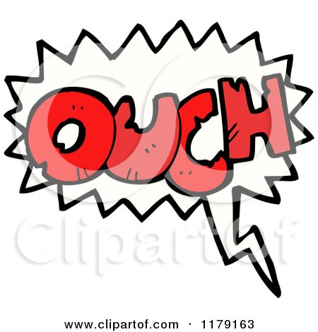 Royalty free rf ouch clipart illustrations vector for Clipart words