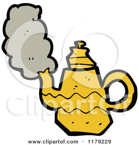 Cartoon of a Coffee Pot or Tea Kettle - Royalty Free Vector Illustration by lineartestpilot