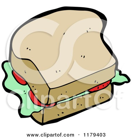 cartoon of a sandwich royalty free vector clipart by