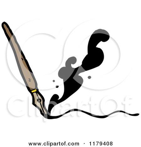 Feather Pen Tattoo W Ink Bottle