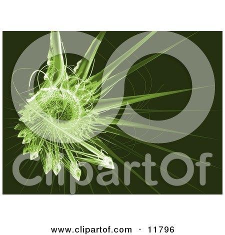 Green Fractal Clipart Illustration by AtStockIllustration