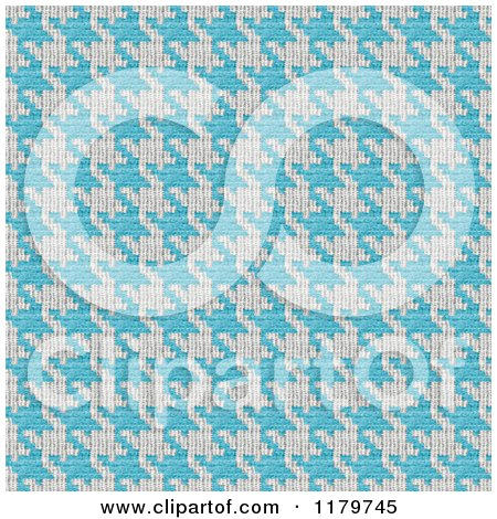 Clipart of a Seamless Blue and White Houndstooth Pattern - Royalty Free Illustration by Arena Creative