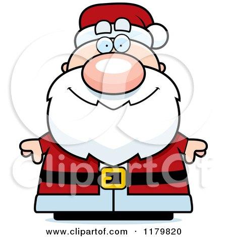 Cartoon of a Happy Chubby Santa - Royalty Free Vector Clipart by Cory Thoman