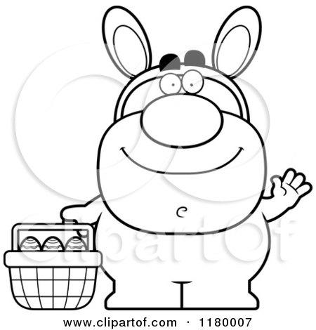 easter bunny man Black
