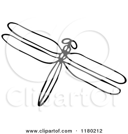 Free Dragonfly Clipart Black And White Clipart of a Black And White