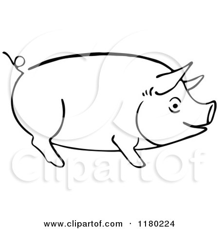 Royalty Free Stock Illustrations of Pigs by Prawny Vintage Page 1