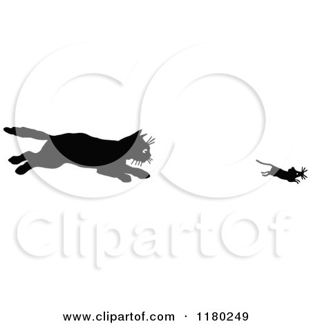 Royalty-Free (RF) Cat And Mouse Clipart, Illustrations, Vector ...