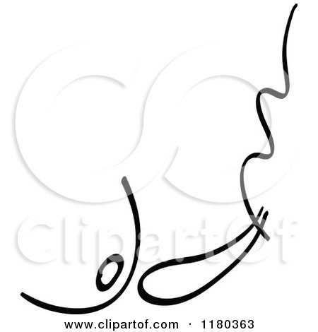 Clipart of a Black and White Stick Drawing of a Bungee Jumper - Royalty Free Vector Illustration by Zooco