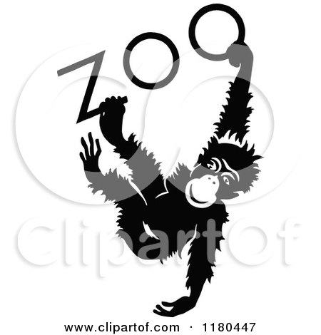Clipart of a Retro Vintage Black