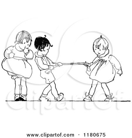Kids Sharing Clipart Black And White kids cooking clipart black and