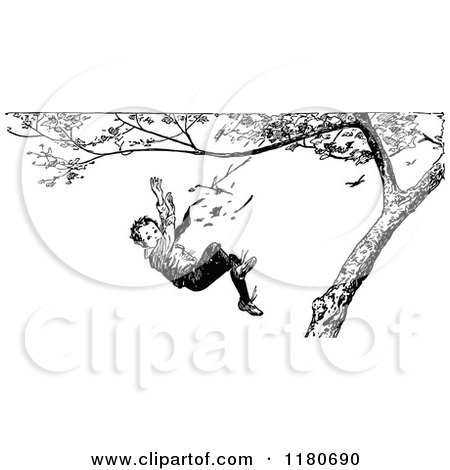 Clipart of Diverse Children Playing on a Tree - Royalty ...