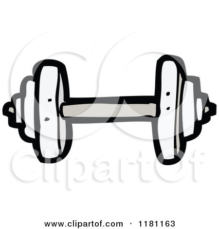 Cartoon of a Dumbbell - Royalty Free Vector Clipart by ...
