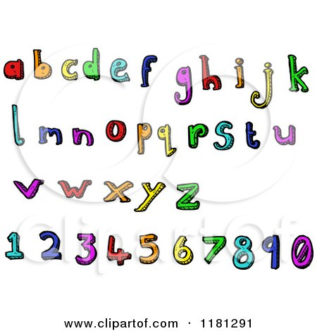 Cartoon of the Alphabet and Numbers - Royalty Free Vector Illustration by lineartestpilot