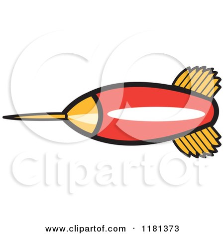 Cartoon of a Red and Gold Dart - Royalty Free Vector Clipart by Andy Nortnik
