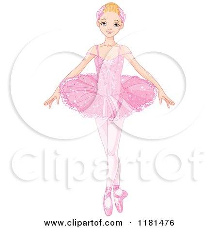 Blond Ballerina in a Pink Tutu Posters, Art Prints