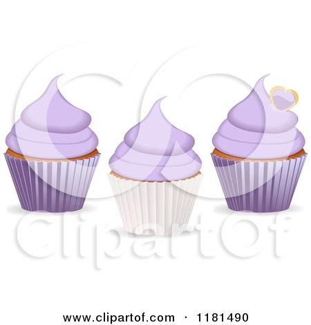 Royalty Free Rf Purple Cupcake Clipart Illustrations