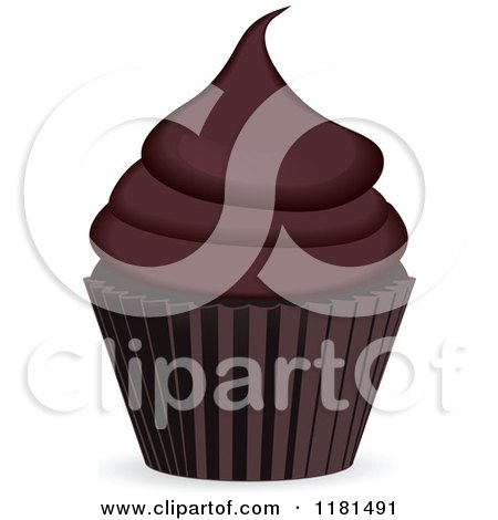 Chocolate Cupcake in a Brown Cup Posters, Art Prints