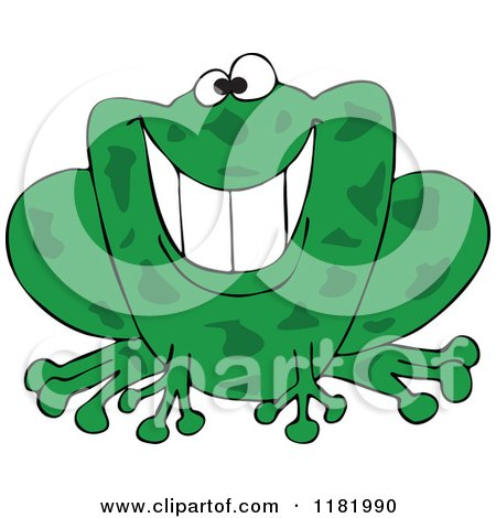 Grinning Green Frog Posters, Art Prints