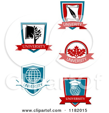 Clipart of University or College Heraldic Designs 2 - Royalty Free Vector Illustration by Vector Tradition SM