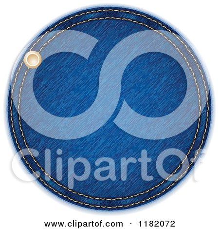 Clipart of a Round Blue Jeans Label - Royalty Free Vector Illustration by Andrei Marincas