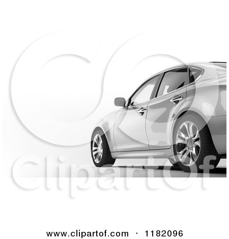 Clipart of a 3d Luxury Sedan Car - Royalty Free CGI Illustration by Mopic