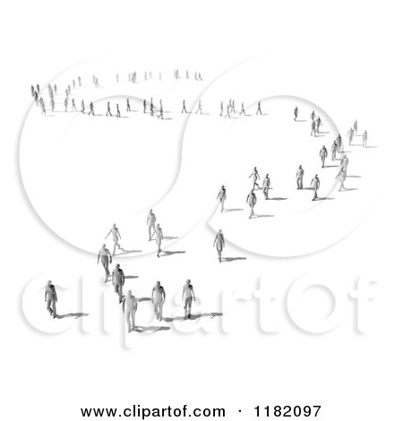 Crowd of People Clipart Clipart of a 3d Crowd of